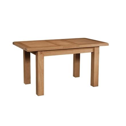 Somerville Light Oak Waxed Extending Dining Table 120