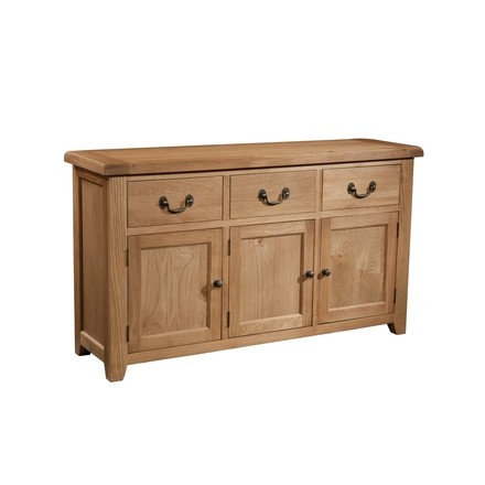 Somerville Light Oak Waxed 3 Door 3 Drawer Sideboard