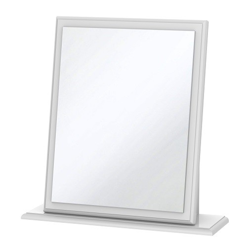 Balmoral Small Dressing Table Mirror in White High Gloss