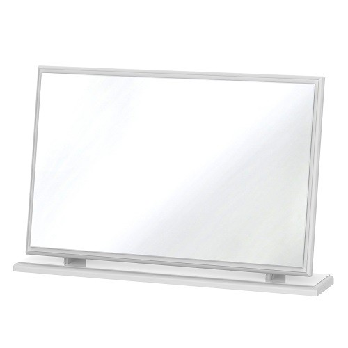 Balmoral Large Dressing Table Mirror in White High Gloss