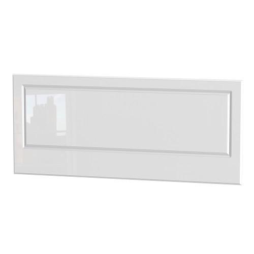 Balmoral Three Quarter 4ft Headboard in White High Gloss