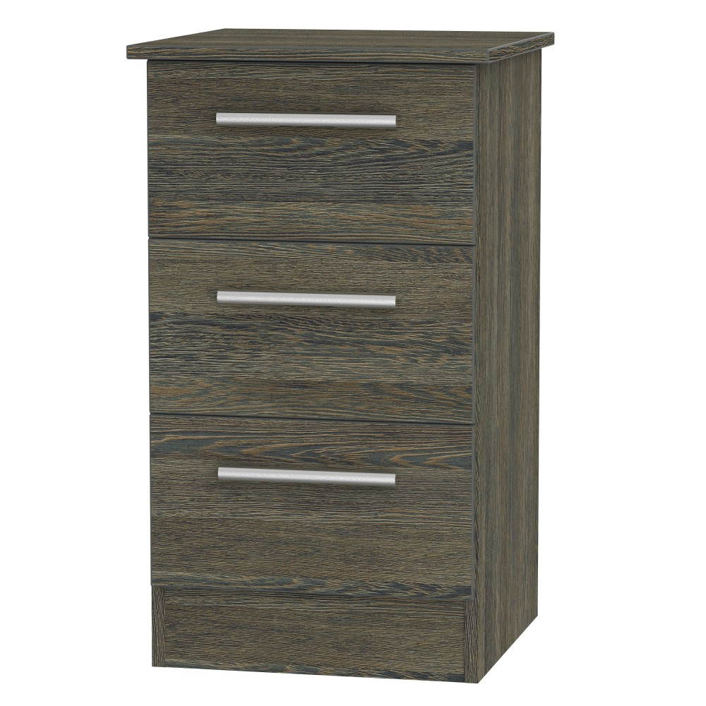 Contrast 3 Drawer Bedside Locker (available in 9 colour finishes)