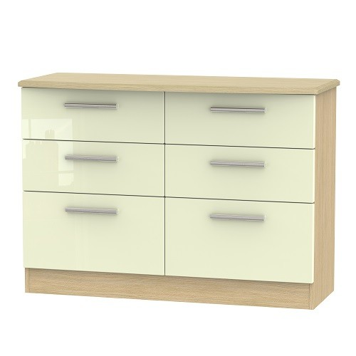 Knightsbridge 6 Drawer Midi Chest (available in a wide range of colour finishes)