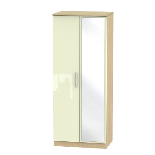 Knightsbridge 2ft 6 Mirror Wardrobe (available in a wide range of colour finishes)