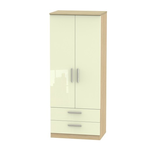 Knightsbridge Tall 2ft 6 2 Drawer Wardrobe (available in a wide range of colour finishes)