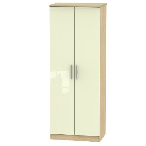 Knightsbridge Tall 2ft 6 Double Hanging Wardrobe (available in a wide range of colour finishes)