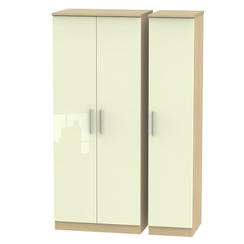 Knightsbridge Triple Plain Wardrobe (available in a wide range of colour finishes)