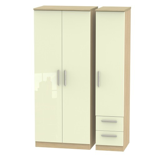 Knightsbridge Tall Triple Plain and 2 Drawer Wardrobe (available in a wide range of colour finishes)