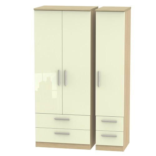 Knightsbridge Triple 4 Drawer Wardrobe (available in a wide range of colour finishes)