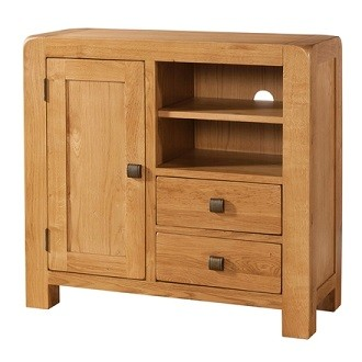 Avondale Waxed Oak Multimedia Unit / Sideboard