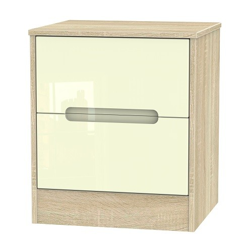 Monaco 2 Drawer Bedside Locker (available in a wide range of colour finishes)