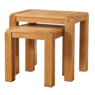 Avondale Waxed Oak Nest of 2 Tables