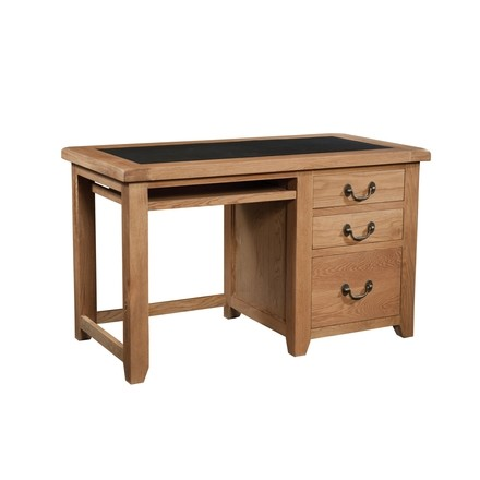 Somerville Light Oak Waxed 3 Drawer Office Desk