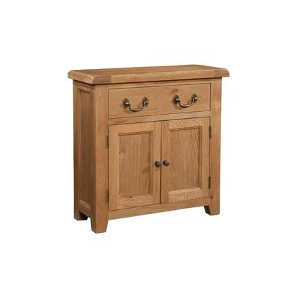 Somerville Light Oak Waxed Small 1 Drawer 2 Door Sideboard