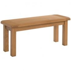 Somerville Light Oak Waxed 104cm Dining Table Bench