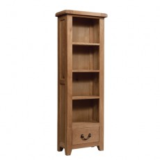 Somerville Light Oak Waxed 1 Drawer Bookcase 600 x 1800