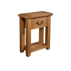 Somerville Light Oak Waxed 1 Drawer Console Table