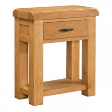 Clover Oak Console Table with 1 Drawer