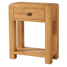 Avondale Waxed Oak 1 Drawer Console Table