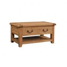 Somerville Light Oak Waxed 2 Drawer Coffee Table