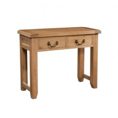 Somerville Light Oak Waxed 2 Drawer Console Table