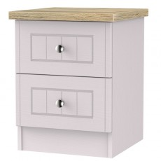 Montana 2 Drawer Bedside Locker (Available in 3 Colour Finishes)