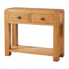 Avondale Waxed Oak 2 Drawer Console Table
