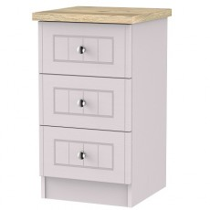 Vienna 3 Drawer Bedside Locker (Available in 3 Colour Finishes)