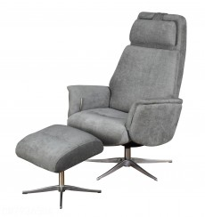 Albury Contemporary Recliner Chair and Stool