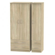Avon Triple 4 Drawer Wardrobe (available in 4 colour finishes)