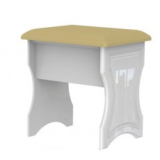 Balmoral Dressing Table Stool in White High Gloss