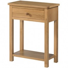 Bedford Light Oak 1 Drawer Console Table