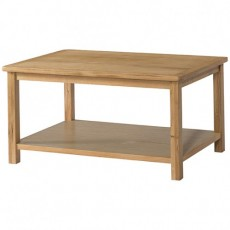 Bedford Light Oak Coffee Table with Shelf