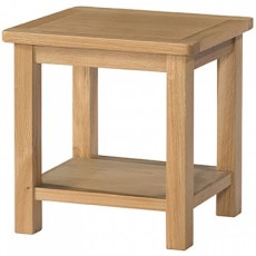 Bedford Light Oak Lamp Table with Shelf