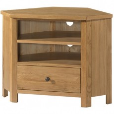 Bedford Light Oak Corner TV Unit