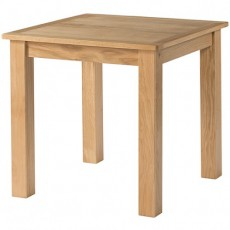 Bedford Light Oak 80 x 80 Fixed Top Dining Table