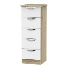 Camden 5 Drawer Bedside Locker (available in a wide range of colour finishes)