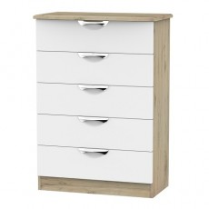 Camden 5 Drawer Chest (available in a wide range of colour finishes)