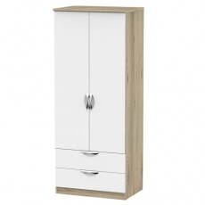 Camden 2ft 6 2 Drawer Wardrobe (available in a wide range of colour finishes)