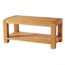 Avondale Waxed Oak Coffee Table with Shelf