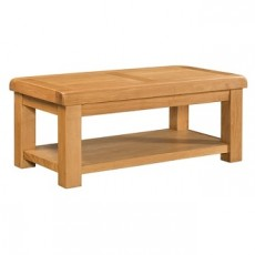 Clover Oak Coffee Table with Shelf