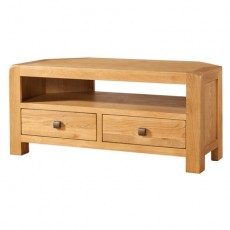 Avondale Waxed Oak Corner TV Unit