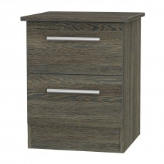 Contrast 2 Drawer Bedside Locker (available in 9 colour finishes)