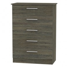 Contrast 5 Drawer Chest (available in 9 colour finishes)