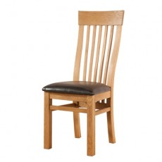 Avondale Waxed Oak Curved Back Dining Chair