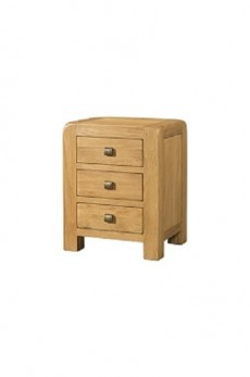 Avondale Waxed Oak 3 Drawer Bedside