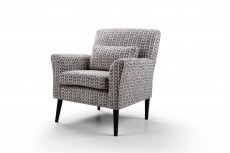 Denton Accent Chair in Isla Charcoal