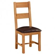 Somerville Light Oak Waxed Ladder Back Dining Chair