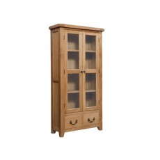 Somerville Light Oak Waxed Display Cabinet