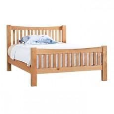 Dorchester Oak Double 4ft 6 High Foot End Bed Frame
